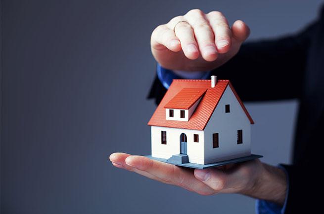 man holding tiny home